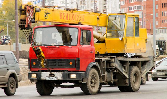 Автокран на базе МАЗ-5337