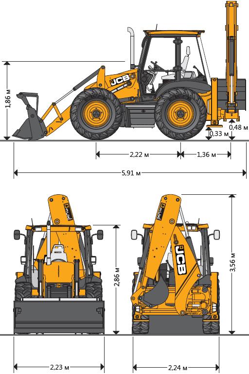 технические характеристики экскаватор JCB 3CX
